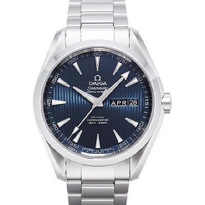OMEGA 歐米茄 Seamaster Aqua Terra 年曆經典腕錶-藍/43mm
