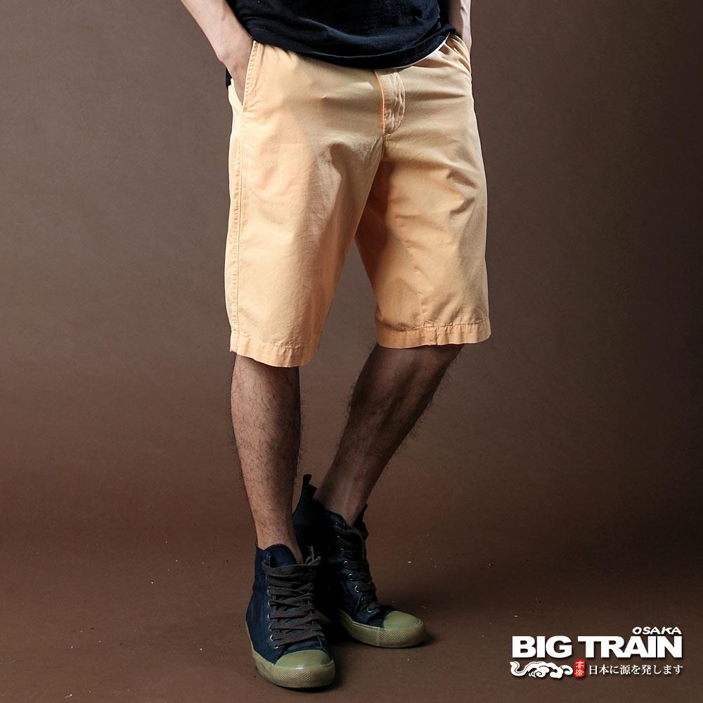 BIG TRAIN-斜紋短褲-黃