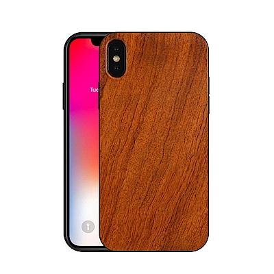 iPhoneX 實木手機殼 全包邊保護殼 TPU木質殼