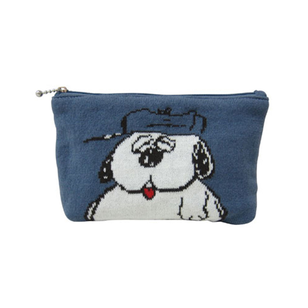 Sanrio SNOOPY針織化妝包(OLAF)