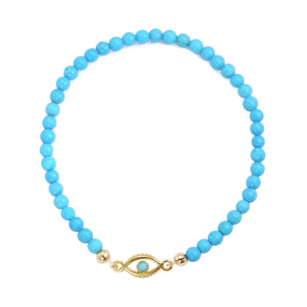 One Of A Kind   歐美好萊塢土耳其藍珠智慧之眼藍色串珠祈願手鍊