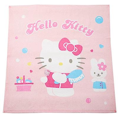 【麗嬰房】HELLO KITTY 凱蒂貓絨毛四方浴巾