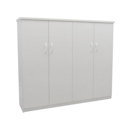 品家居 伊可4.3尺環保塑鋼四門鞋櫃(五色可選)-128x33x117cm-免組