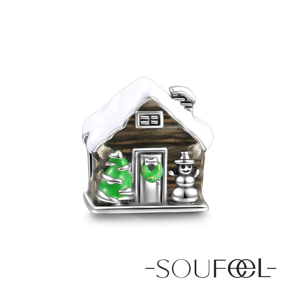 SOUFEEL索菲爾 925純銀珠飾 聖誕小屋 串珠