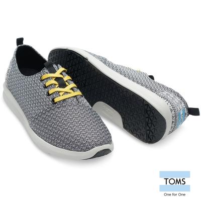 TOMS 特色織紋休閒鞋-男款(黑灰)