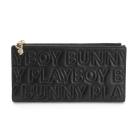 PLAYBOY- 翻蓋長夾 Fashion Brand 時尚烙印系列-時尚黑