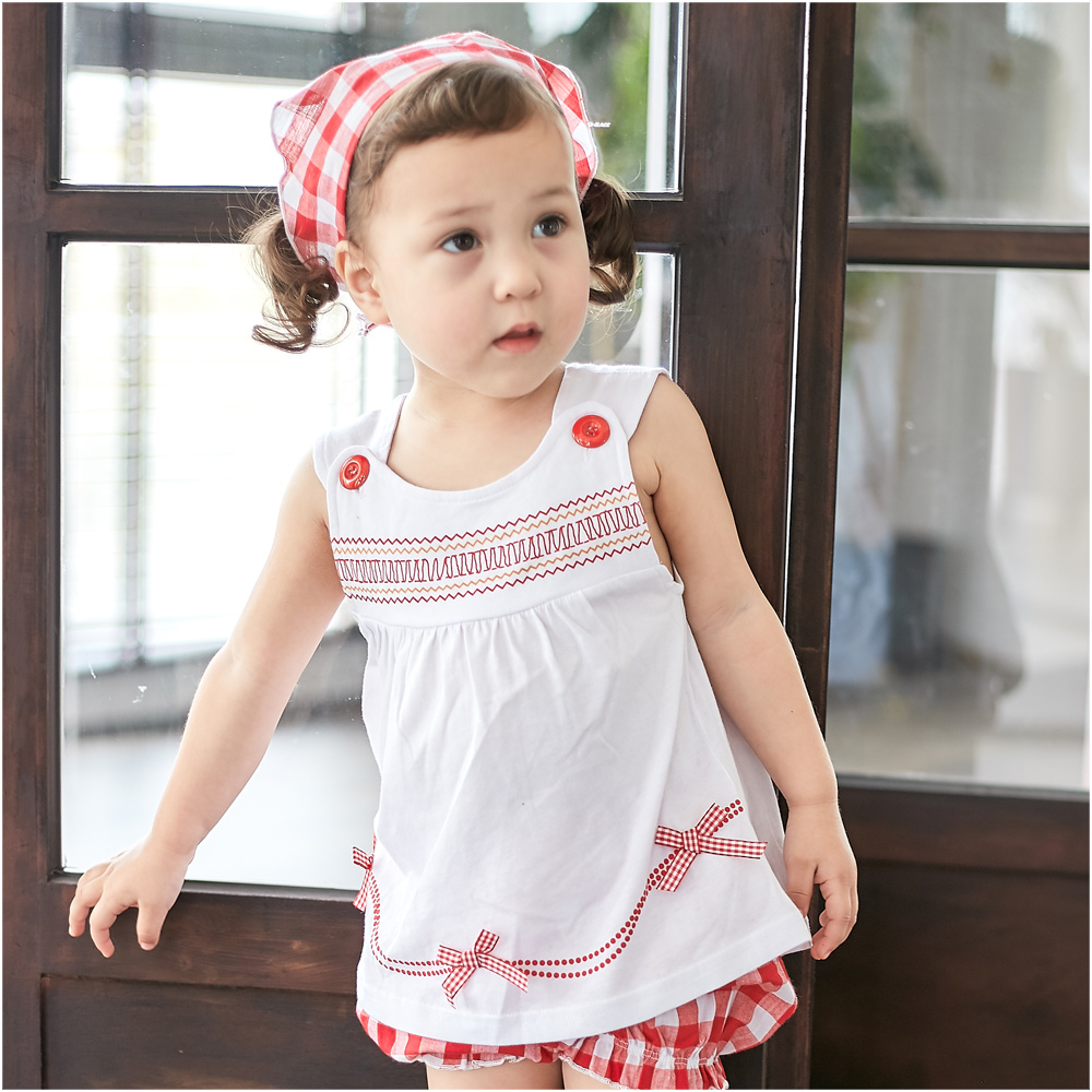 baby童衣 兒童夏季無袖三件套 嬰幼兒梭織棉套裝32024