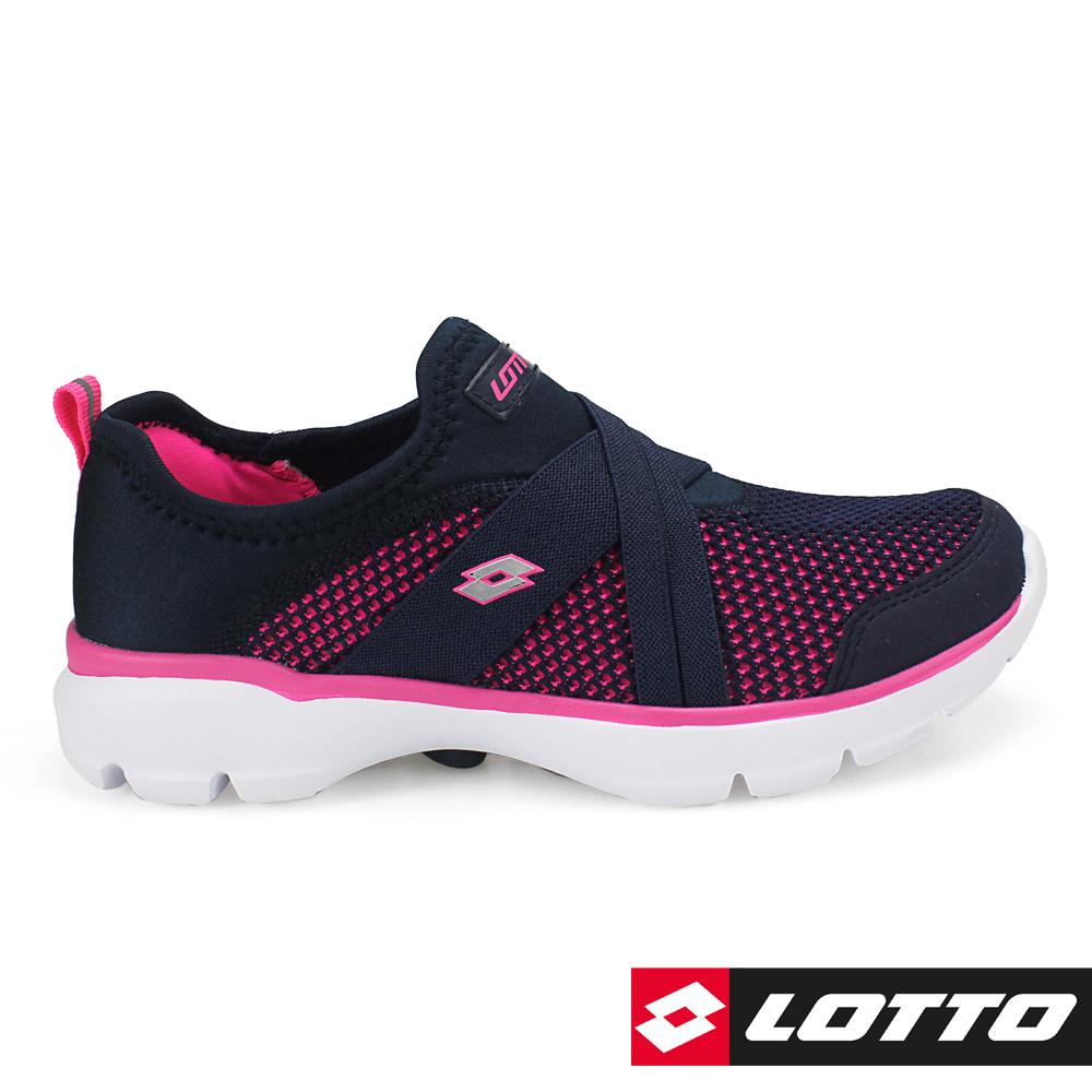 LOTTO 義大利 女 EASYWEAR 樂活輕跑鞋 (深藍)