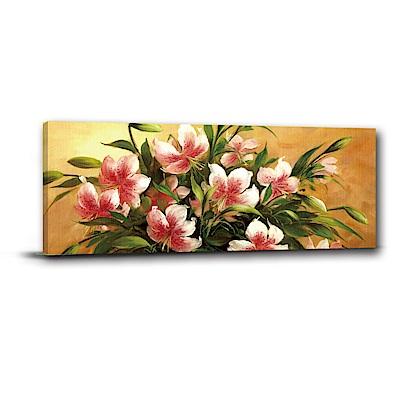 橙品油畫布-單聯式橫幅 掛畫無框畫 採花人家 80x30cm