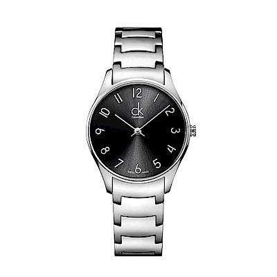 CK  CALVIN KLEIN Classic 經典系列黑色數字面女錶-32mm