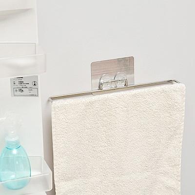 樂貼工坊 不鏽鋼掛架/毛巾架/金屬貼面-39.5x4.8