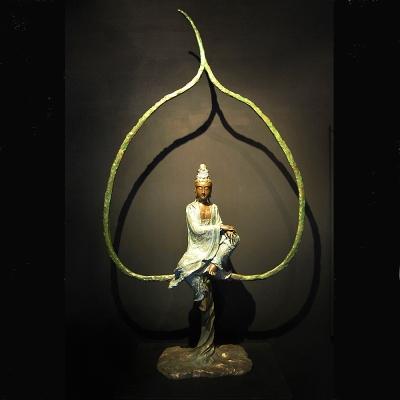 開運陶源 子問老師 限量原作銅雕~菩提 (觀世音菩薩)