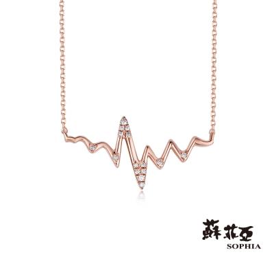 蘇菲亞SOPHIA 鑽鍊-愛的心跳鑽石項鍊