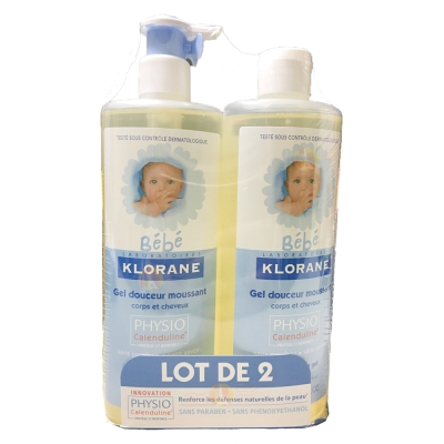 Klorane蔻蘿蘭 寶寶洗髮沐浴精 500ml (兩入組)