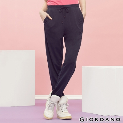 GIORDANO-女裝腰頭綁帶鬆緊運動棉褲-02海