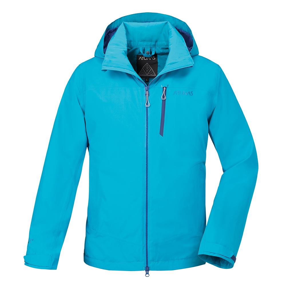 【ATUNAS 歐都納】男款防水GORE-TEX二件式風衣外套A-G1714M藍