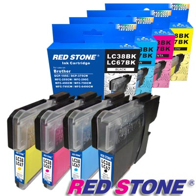RED STONE for Brother LC38/ LC67 BK+C+M+Y墨水匣(4色)