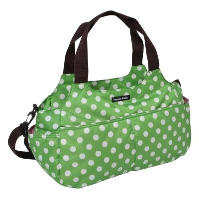 日本Hanna Hula-棉花糖二用媽媽包/空氣包(圓點綠)