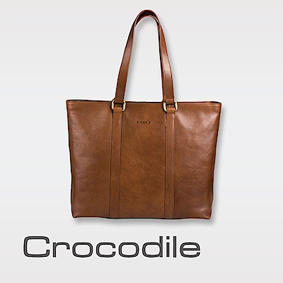 Crocodile Natural 義大利植物鞣原皮 托特包 0104-07706-02