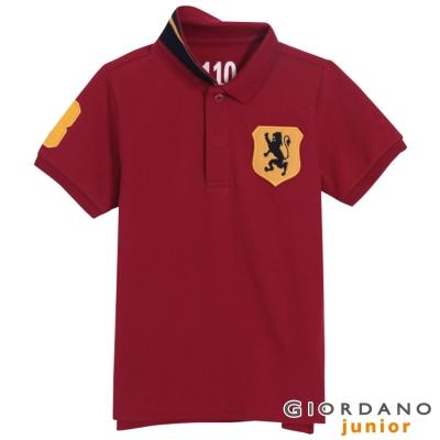 GIORDANO-童裝勝利獅王盾牌POLO衫-15