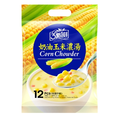 3點1刻奶油玉米濃湯18gx12包