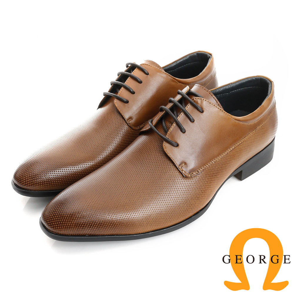 GEORGE 喬治-經典系列 真皮漸層雕花紳士皮鞋(男)-棕色