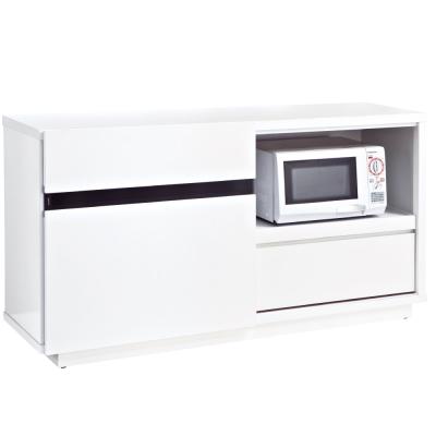 品家居 特洛4尺白色餐櫃下座-121x52x82.8cm-免組