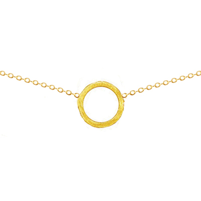 Dogeared simple karma 小圓圈 圓滿金色18' 許願項鍊