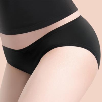 莎薇 MODAL-防臭抗菌-健康褲 -M-LL 低腰三角褲(清新黑)