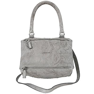 GIVENCHY Pandora 綿羊皮鞣製兩用提包(小/灰色)