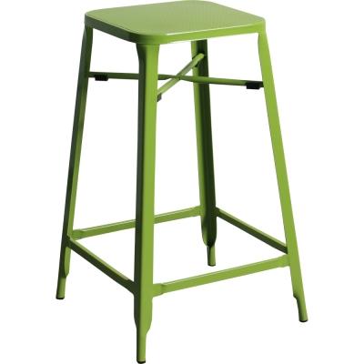 YOI傢俱 雷歐工業風金屬吧台椅2入(高腳椅)41x41x65.5