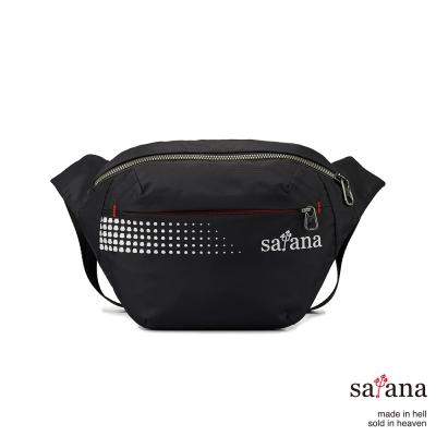 satana - 躍動生活斜肩包/腰包 - 黑色