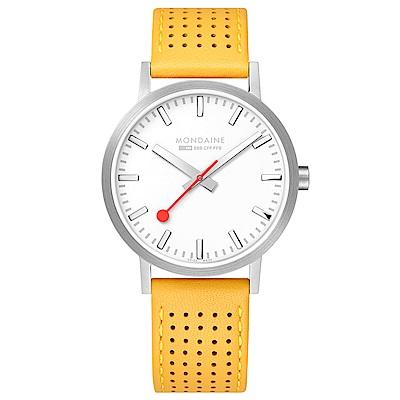 MONDAINE 瑞士國鐵Classic經典系列腕錶-40mm/金絲雀黃