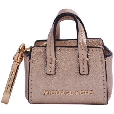 MICHAEL KORS 托特包造型鑰匙圈吊飾-金