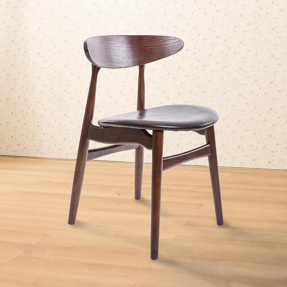 Jiachu 佳櫥世界-Judy舒帝實木餐椅/二色-寬41X深49.5X高74公分