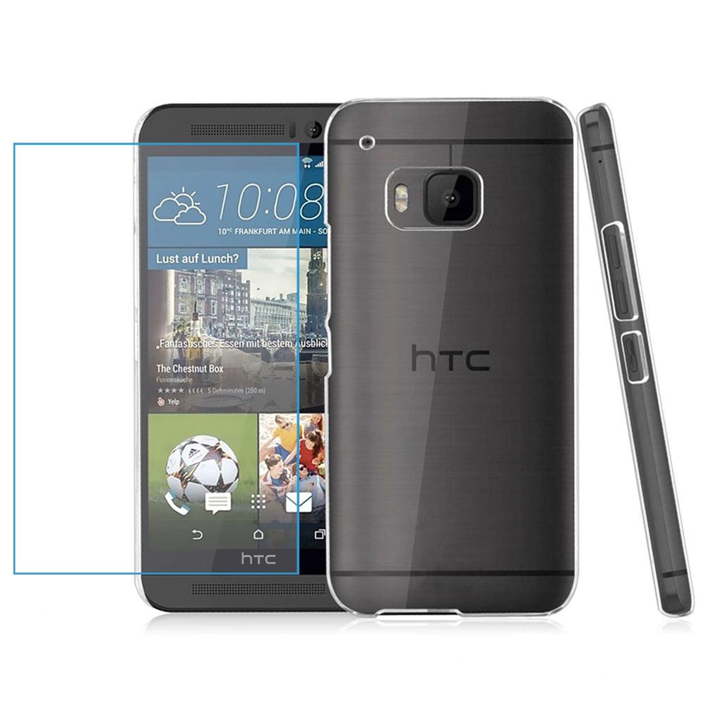 透明殼專家超值組HTC M9超薄.抗刮.高透光保護殼+2.5D鋼化玻璃防爆貼