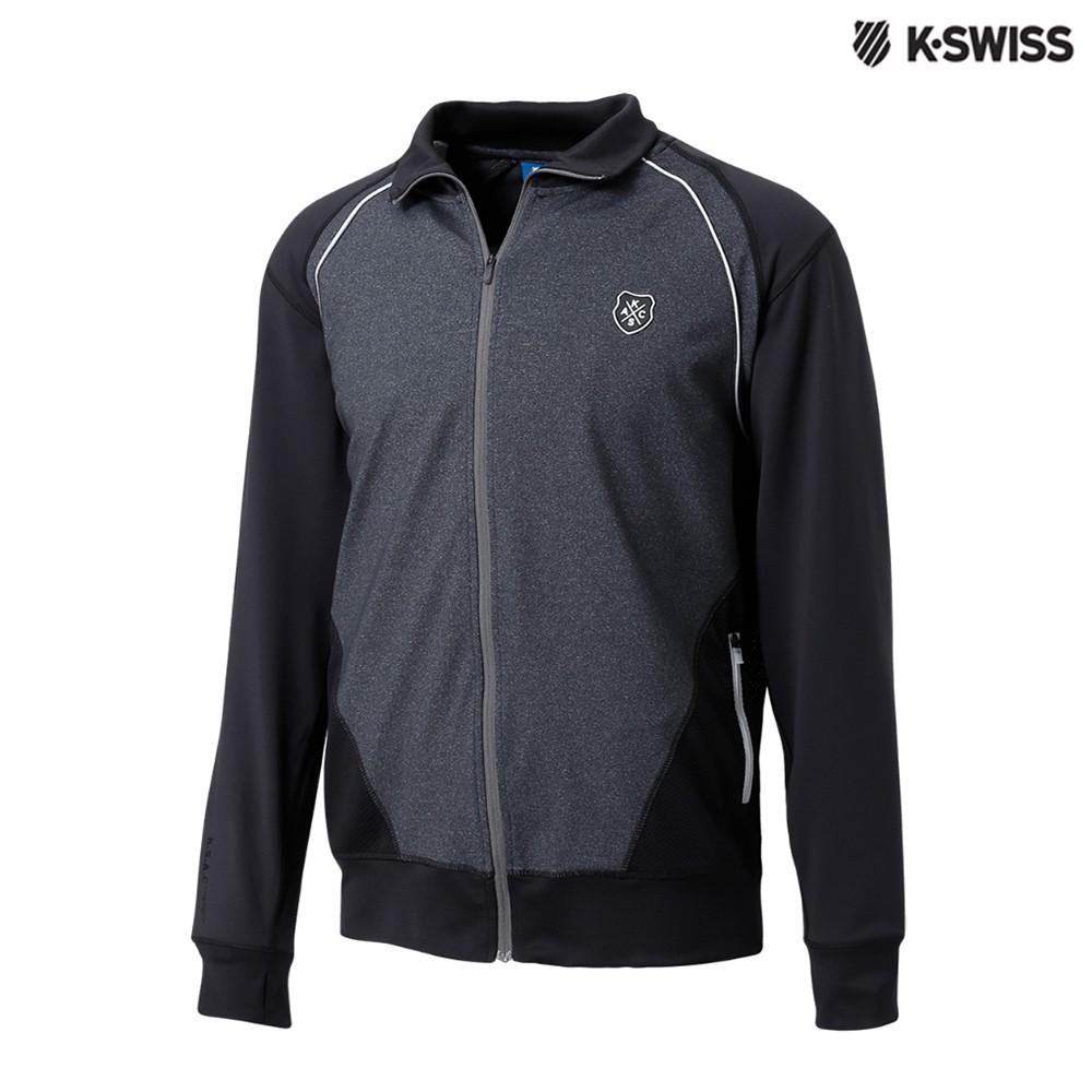 K-SWISS Track Jacket運動外套-男-黑/灰