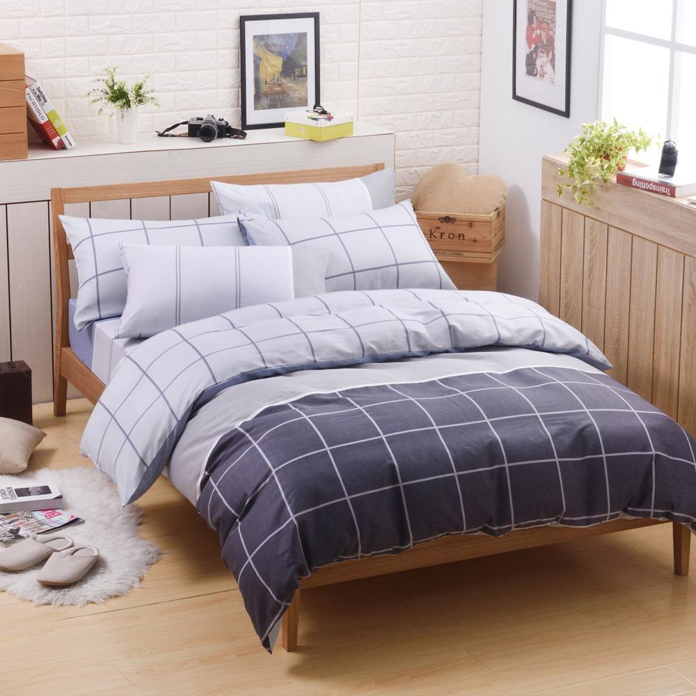 喬曼帝Jumendi-里昂風情 台灣製單人三件式特級100%純棉床包被套組