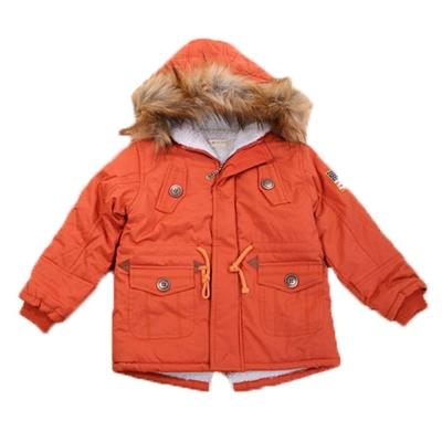 休閒厚絨裡極暖連帽外套 橘 k44621