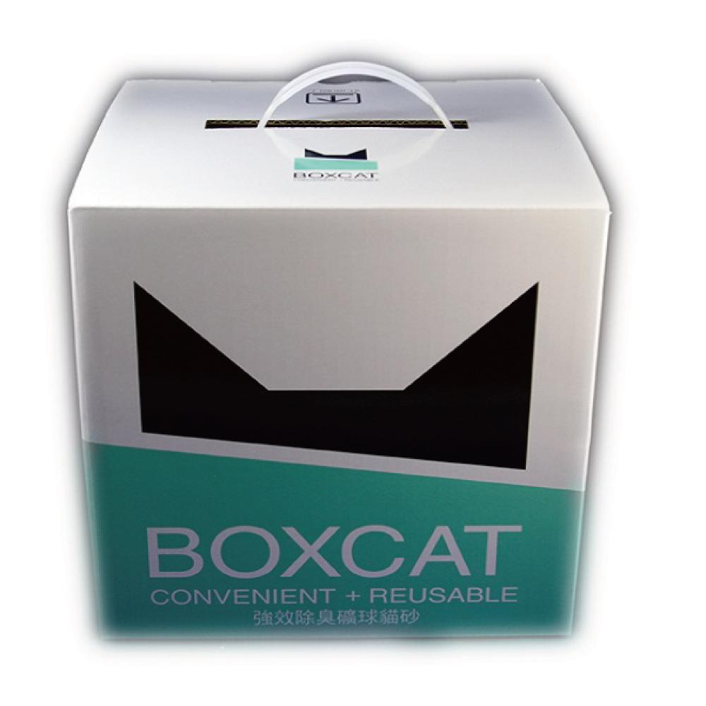 國際貓家BOXCAT 綠標-強效除臭礦球貓砂13L(10kg)