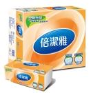 (買就送體驗包)倍潔雅新柔韌抽取式花紋衛生紙130抽X10包/串