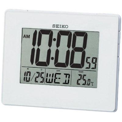 SEIKO 日本精工 靜音電子鐘/座鍾//掛鐘(QHL057W)-白/12x16cm