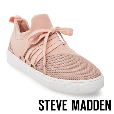 STEVE MADDEN-LANCER-BLUSH 網布拼接綁帶休閒鞋-粉色