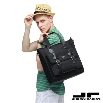 Jimmy-Racing裘德洛雙扣手提單肩斜挎托特包男包14吋電腦包