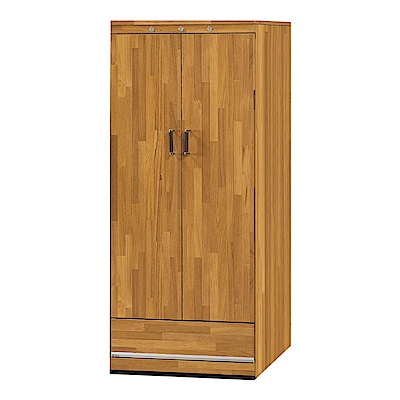 品家居  瑪麗露2尺柚木紋二門單抽中鞋櫃-61x41x149cm免組