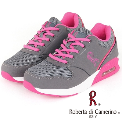 Roberta諾貝達 輕量透氣防臭氣墊運動童鞋-粉(親子款)