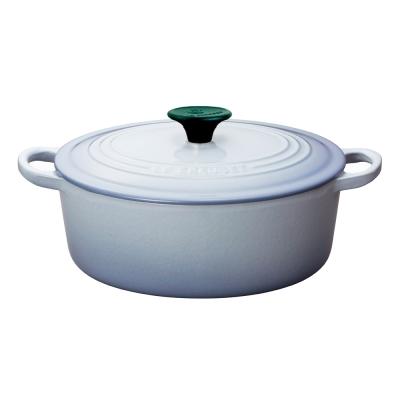 LE-CREUSET-琺瑯鑄鐵橢圓鍋-27cm-海岸藍