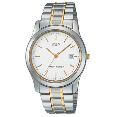 CASIO 世界富豪時尚指針紳士錶(MTP-1141G-7A)-白/38mm