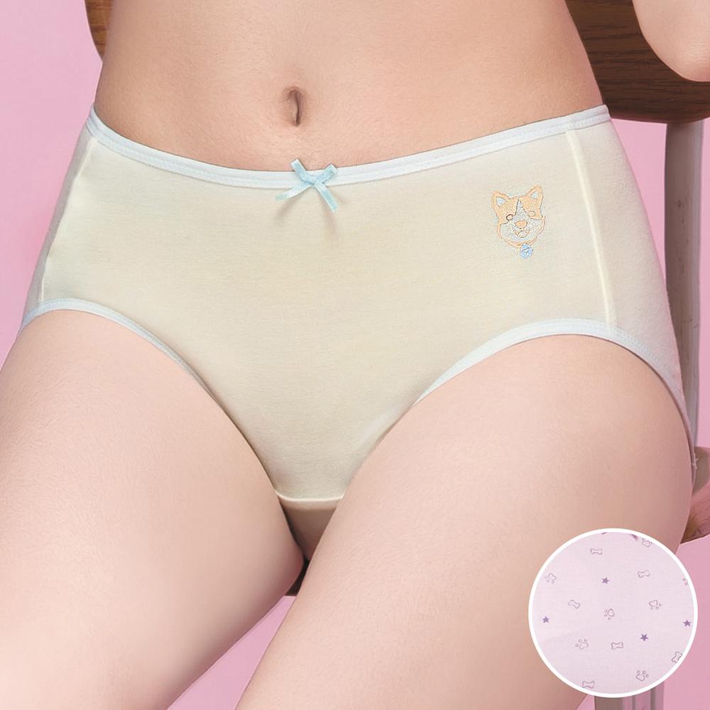 嬪婷 學生內褲 晶球牛奶 M-3L 中低腰三角褲(粉嫩紫)