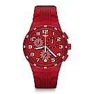 Swatch 就是SWATCH RED STEP 紅色步伐手錶